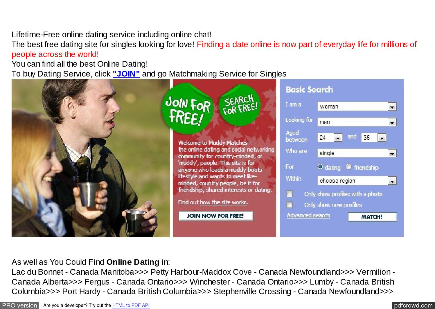 all free dating sites in canada